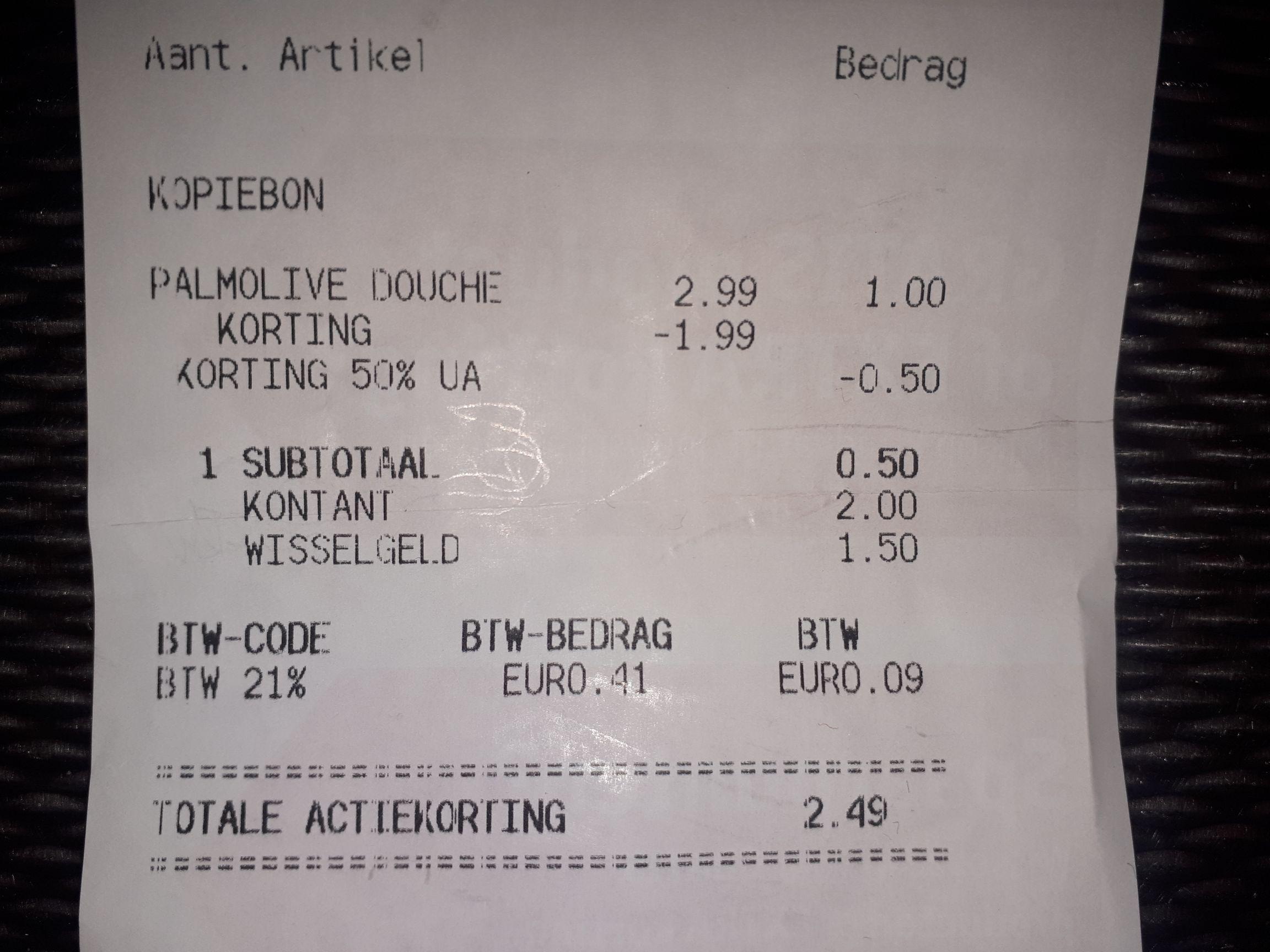 Palmolive Amandel & Melk voor €0,50 bij Kruidvat