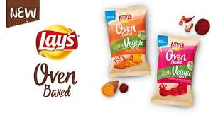 €1 cashback op 2x Lays Oven Baked with veggie