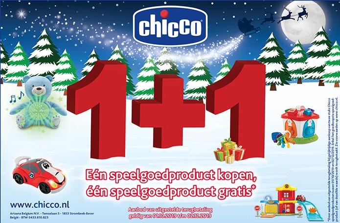 Chicco speelgoed 1+1 gratis (cashback) geldt ook op het 'duurste' speelgoed @ diverse winkels