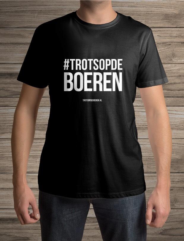 Gratis trots op de boeren T-shirt