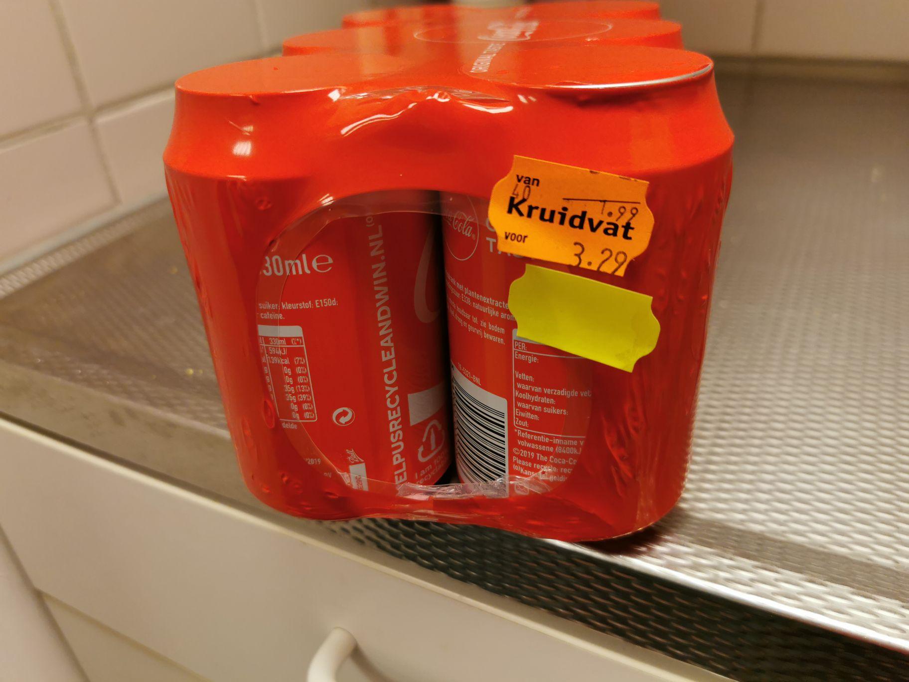 6 blikjes coca cola @ Kruidvat lokaal?