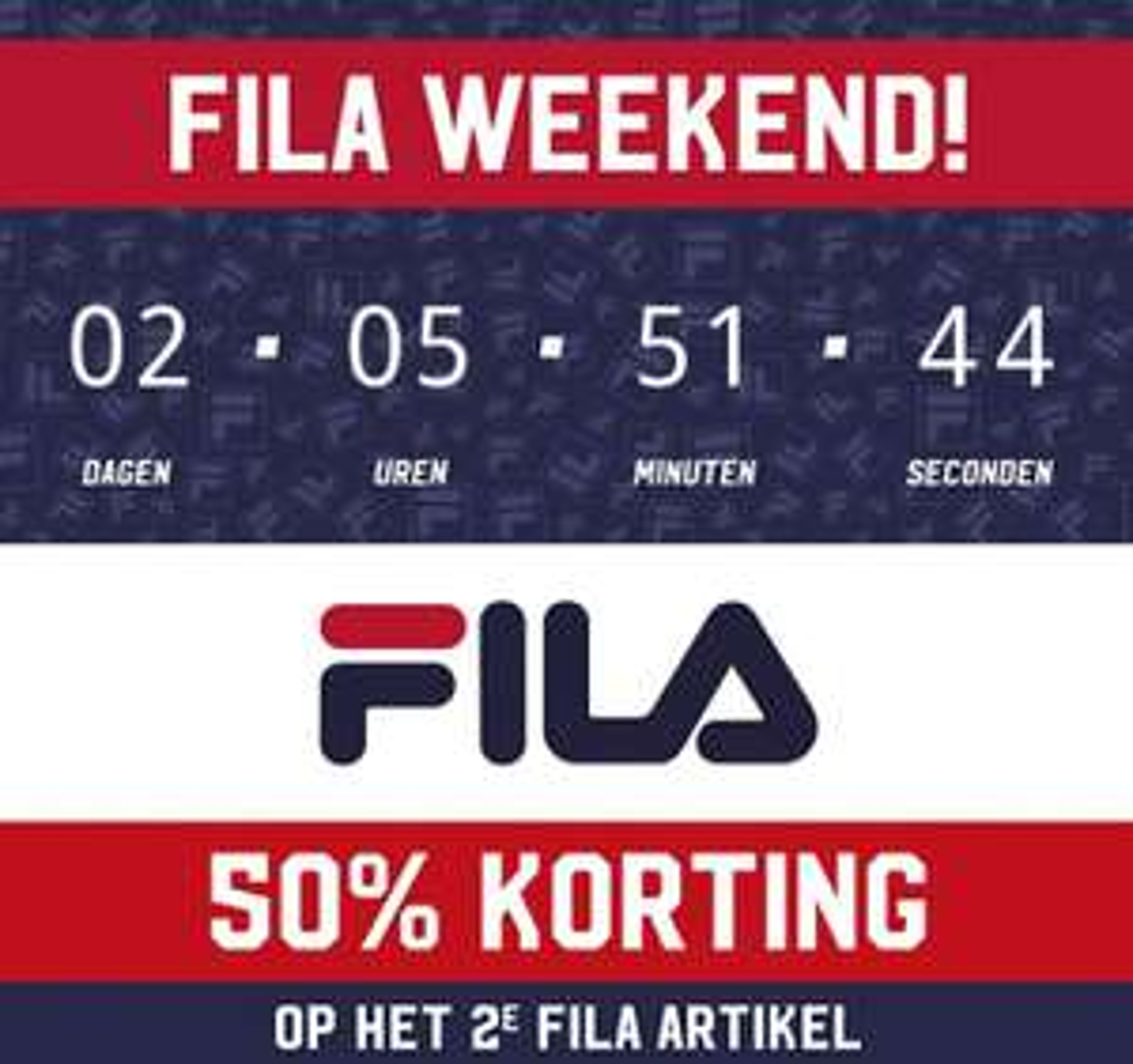 Fila & Puma 2e artikel  50% korting Aktiesport