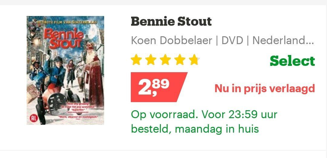 Bennie stout sinterklaas DVD