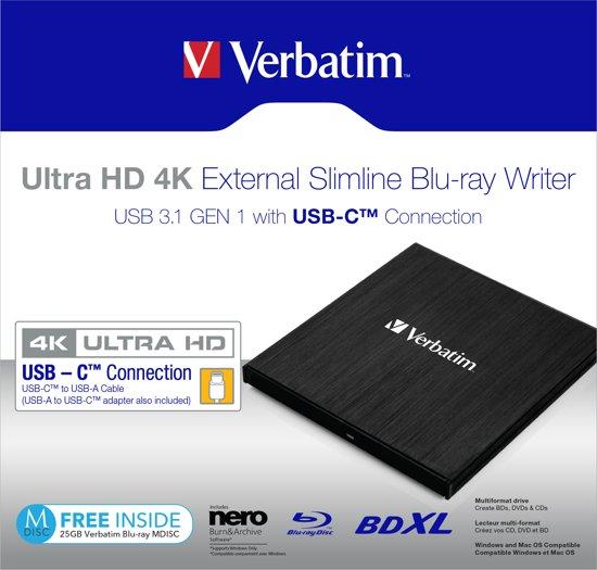 Verbatim 43888 optisch schijfstation Zwart Blu-Ray DVD Combo