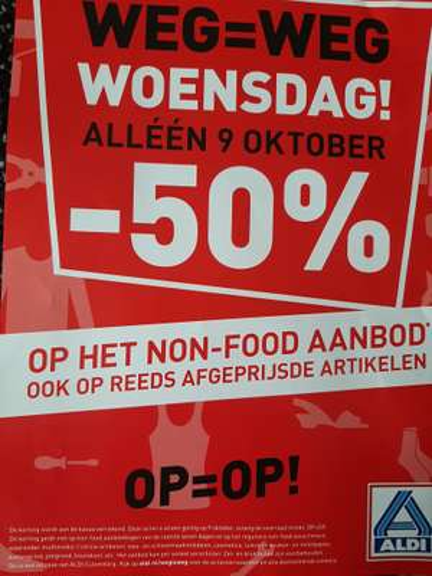 50%korting op non food