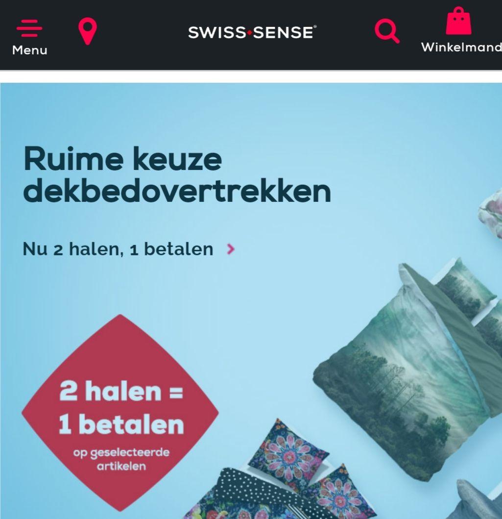 Swissense dekbedovertrek 1+1gratis