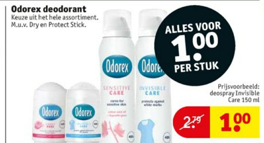 Odorex deodorant vanaf 08-10