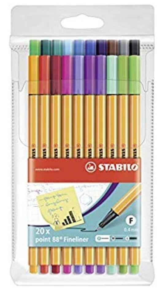 Stabilo point 88 20-pack voor €9.95 @amazon.de