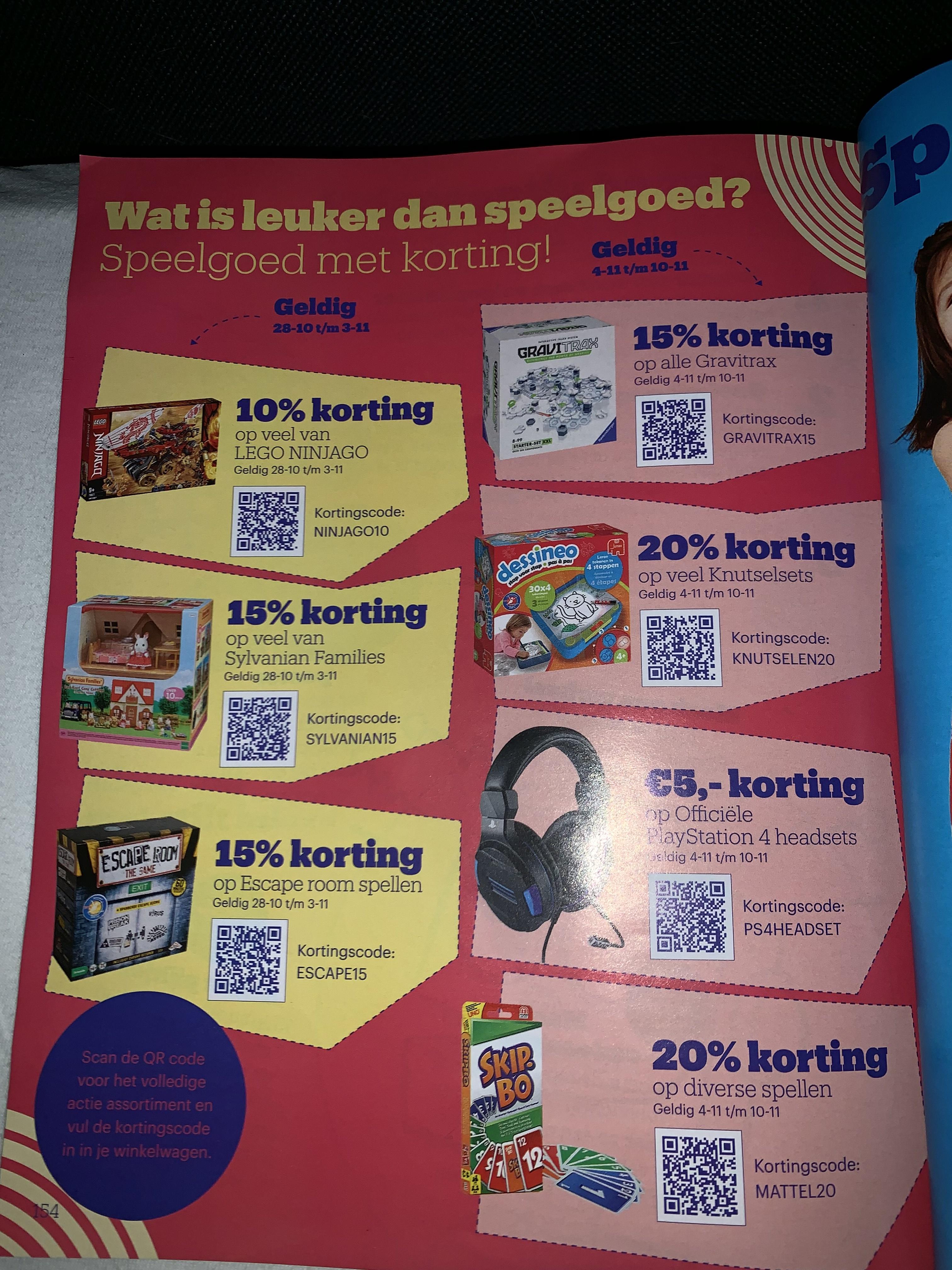 7 kortingscodes bij Bol.com op speelgoed en Playstation Headsets