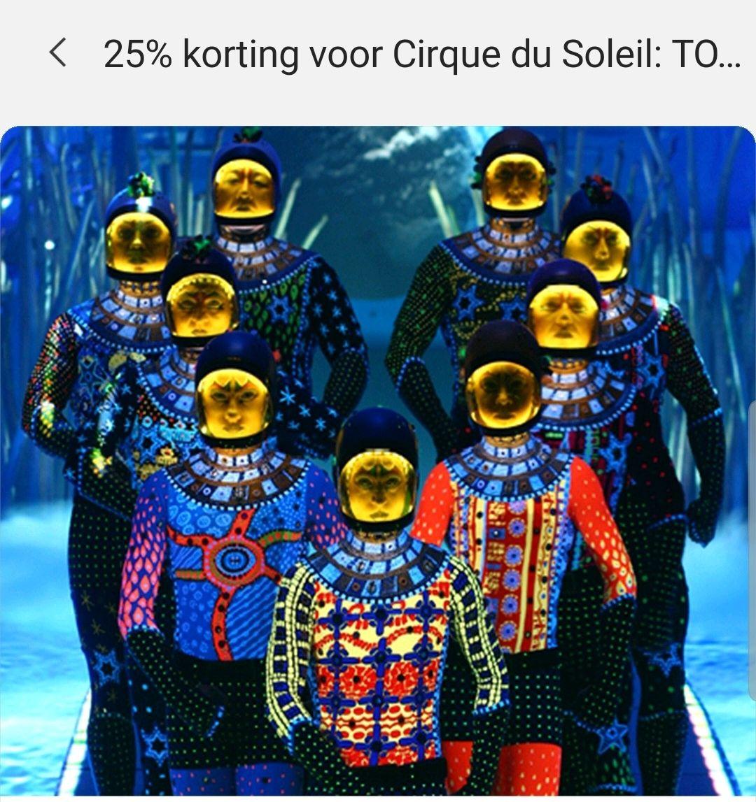 Samsung Member App: 25% korting Cirque de Soleil (geselecteerde data)