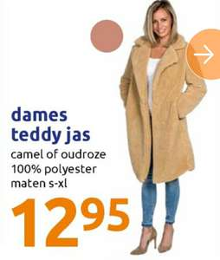 Teddy jas camel of oudroze
