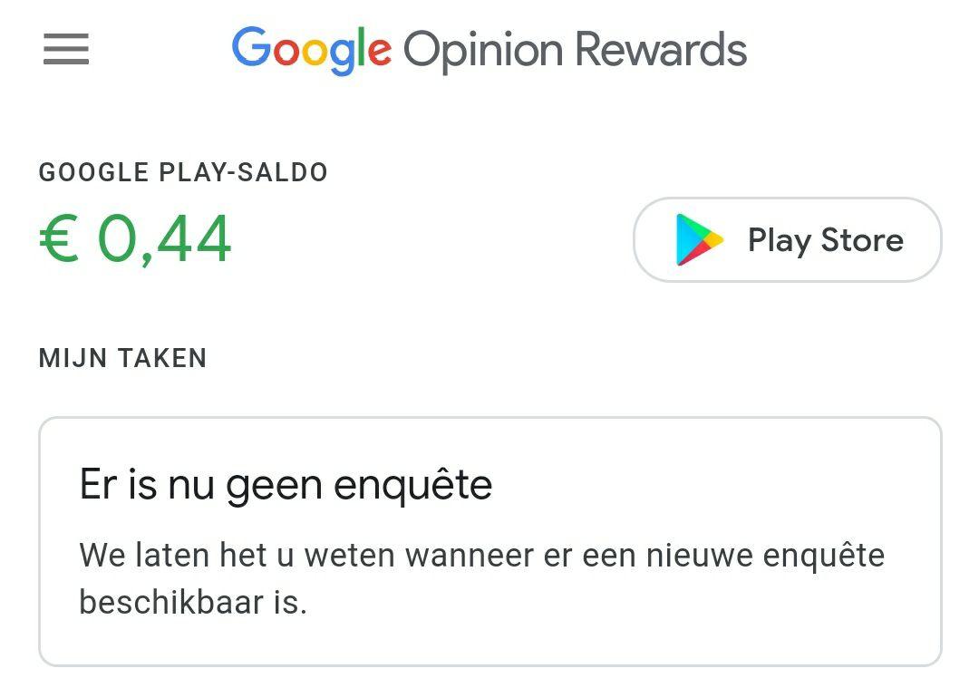 GRATIS GELD! google opinion rewards ANDROID ONLY