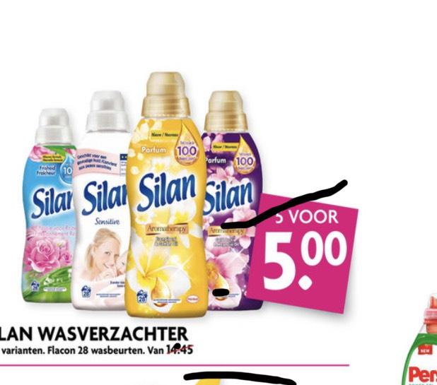 Silan wasverzachter 5 stuks voor 5 euro @ Dekamarkt