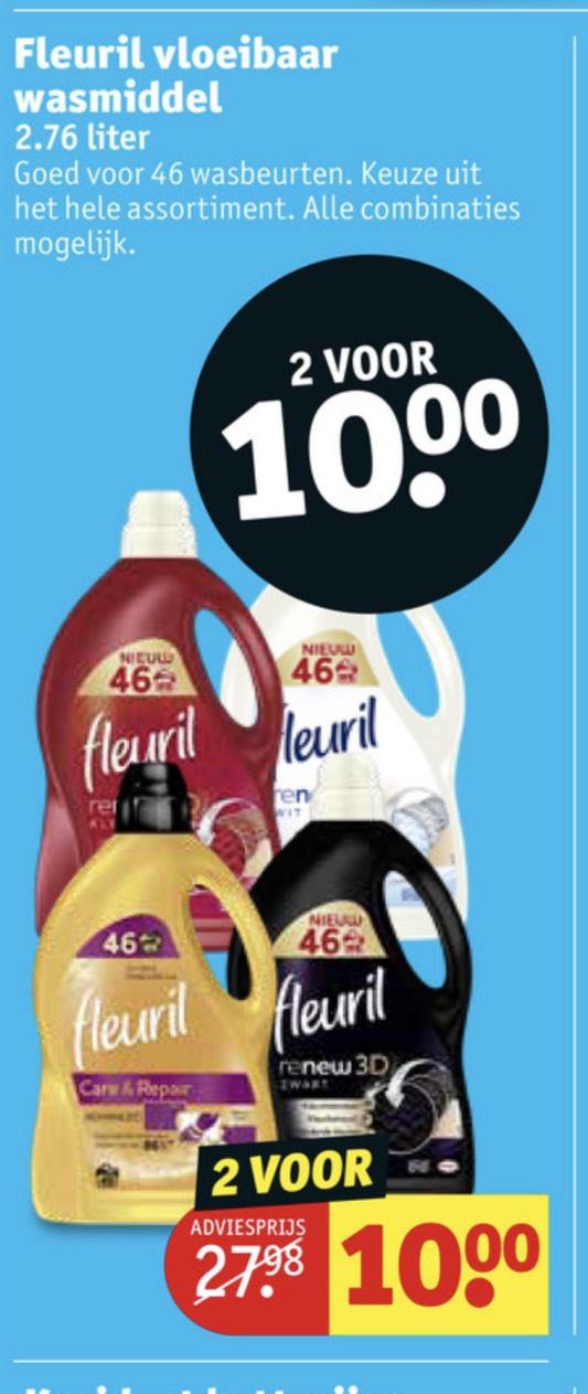 Fleuril wasmiddel 2 flessen van 46 wasbeurten voor een tientje
