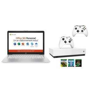 "[België] Hp 14"" laptop (AMD A4 + 4GB ram) + Xbox One S 1TB @cdiscount"