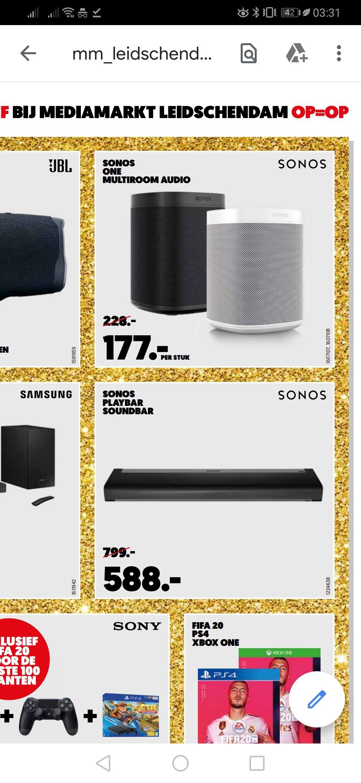 Sonos playbar. openingsaanbiedingen Media Markt Leidschendam'