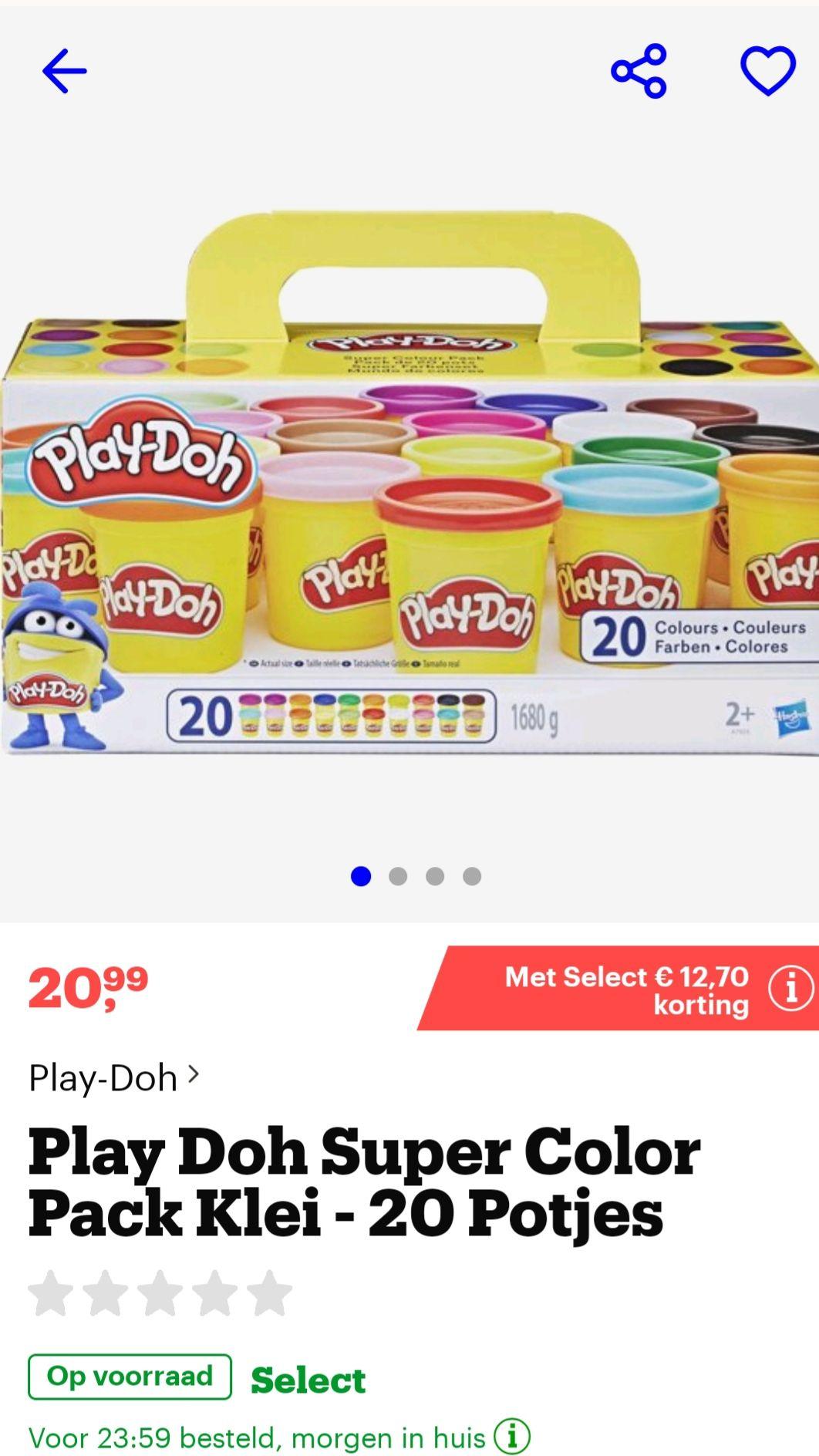 Extra voordelig playdoh voor select klanten bij bol.com