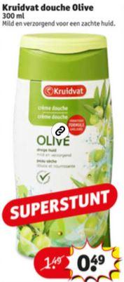 Kruidvat 300ml douchecrème 'Olive' @ Kruidvat