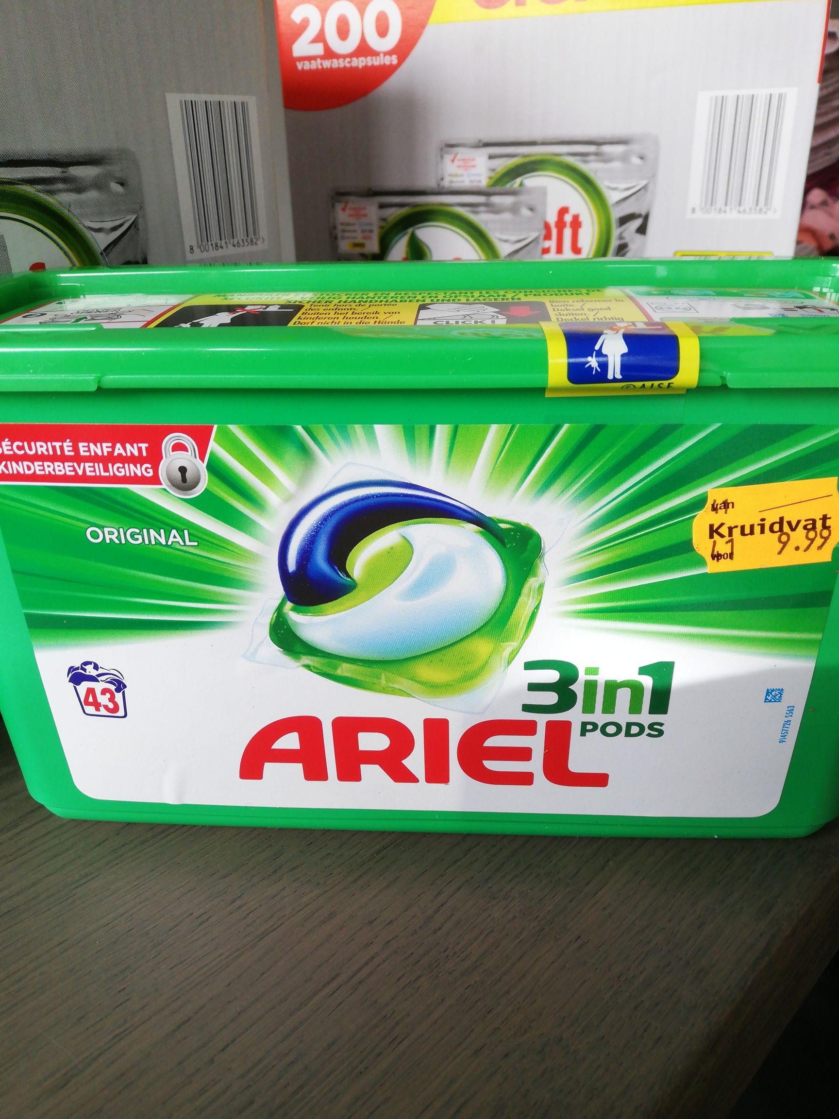 Ariel pods nu 13,9 ct per pod