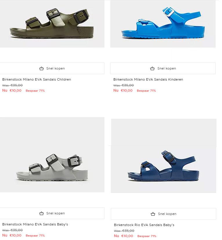 Birkenstock kids sandalen -70% (laatste maatjes) @ JD Sports