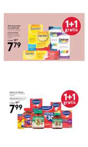 ALLE vitaminen van Centrum | Supradyn | Dagravit | Optimax 1+1 GRATIS @ Etos