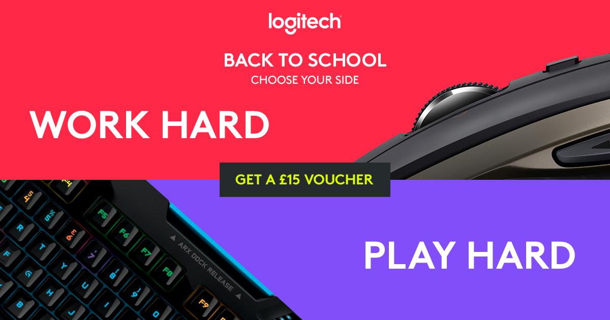 Gratis £15 Logitech voucher
