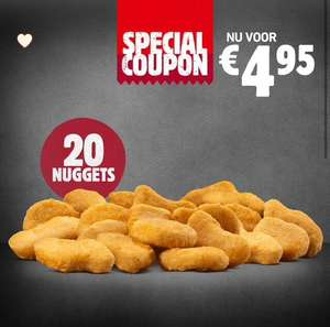 20 chicken nuggets @Burger King