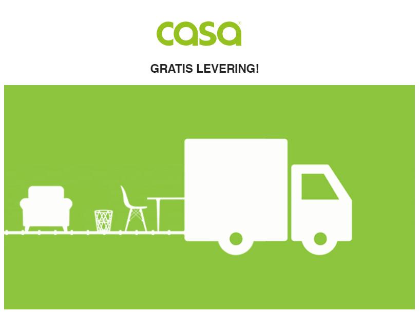Met code 20% korting + GRATIS verzending (t.w.v. €4,99 - €40) @ CASA
