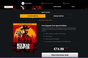 Red Dead Redemption 2 PC + 2 gratis Rockstar Games + gratis upgrade naar Ultimate Edition
