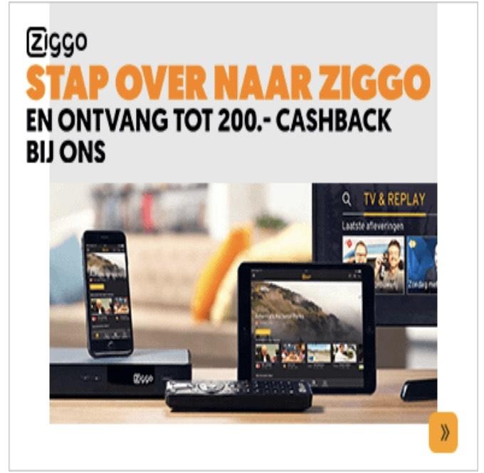 Stap over naar Ziggo en ontvang tot €200 cashback @ Mediamarkt