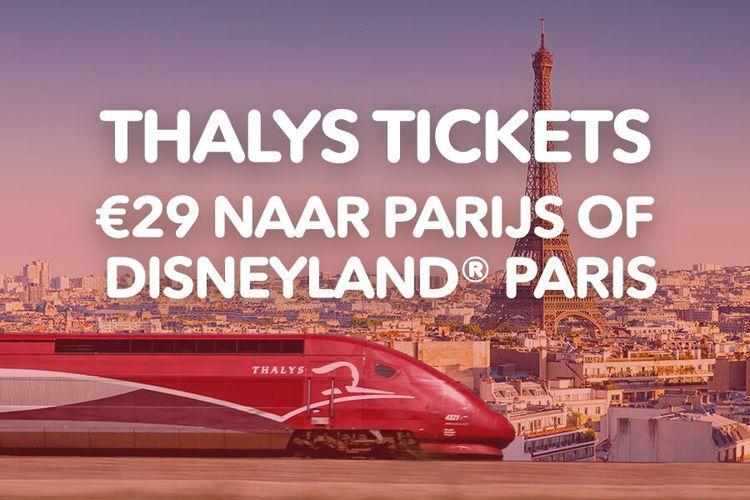 Voor 29 euro met de Thalys naar Parijs of Disneyland Parijs!