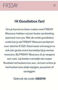 FRIDAY Mascara voor 0,01 cent