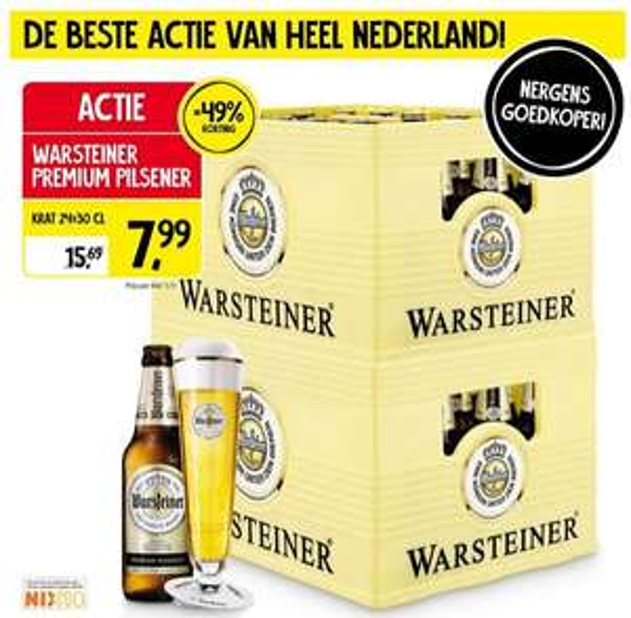 Jan Linders: krat Warsteiner €7,99