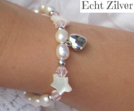Zilveren mama dochter armbandje little star M @ Bol.com