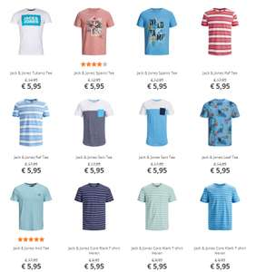 Jack & Jones t-shirts voor €5,95 / €7,95 @ plutosport