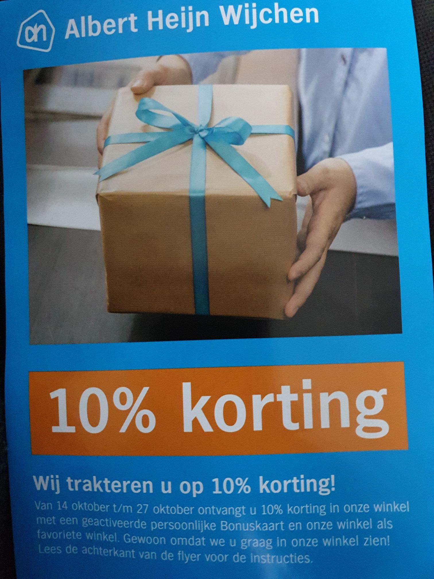 (Lokaal) 10% korting bij AH Wijchen van 14/10 tm 27/10