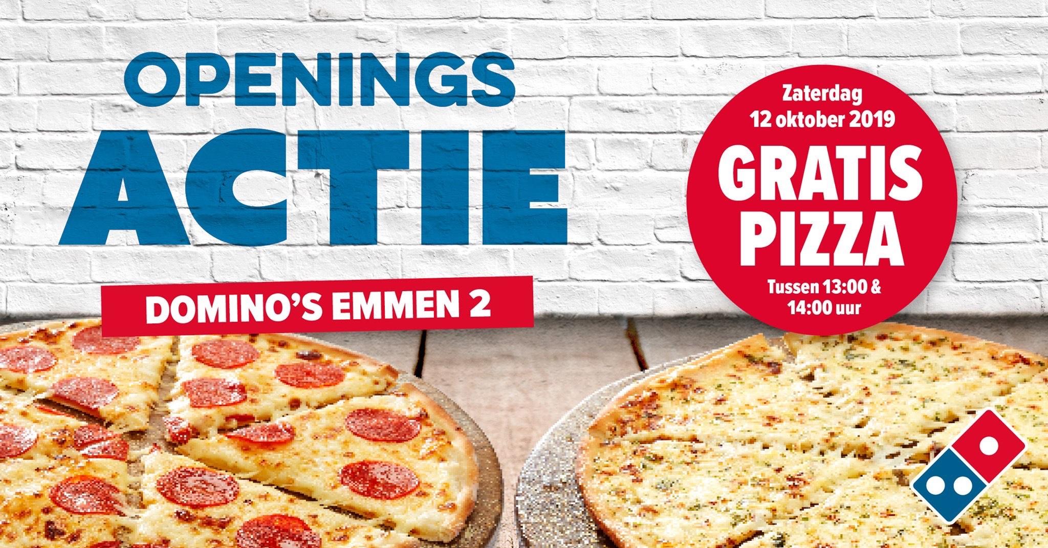Gratis pizza tussen 13:00-14:00 in Emmen