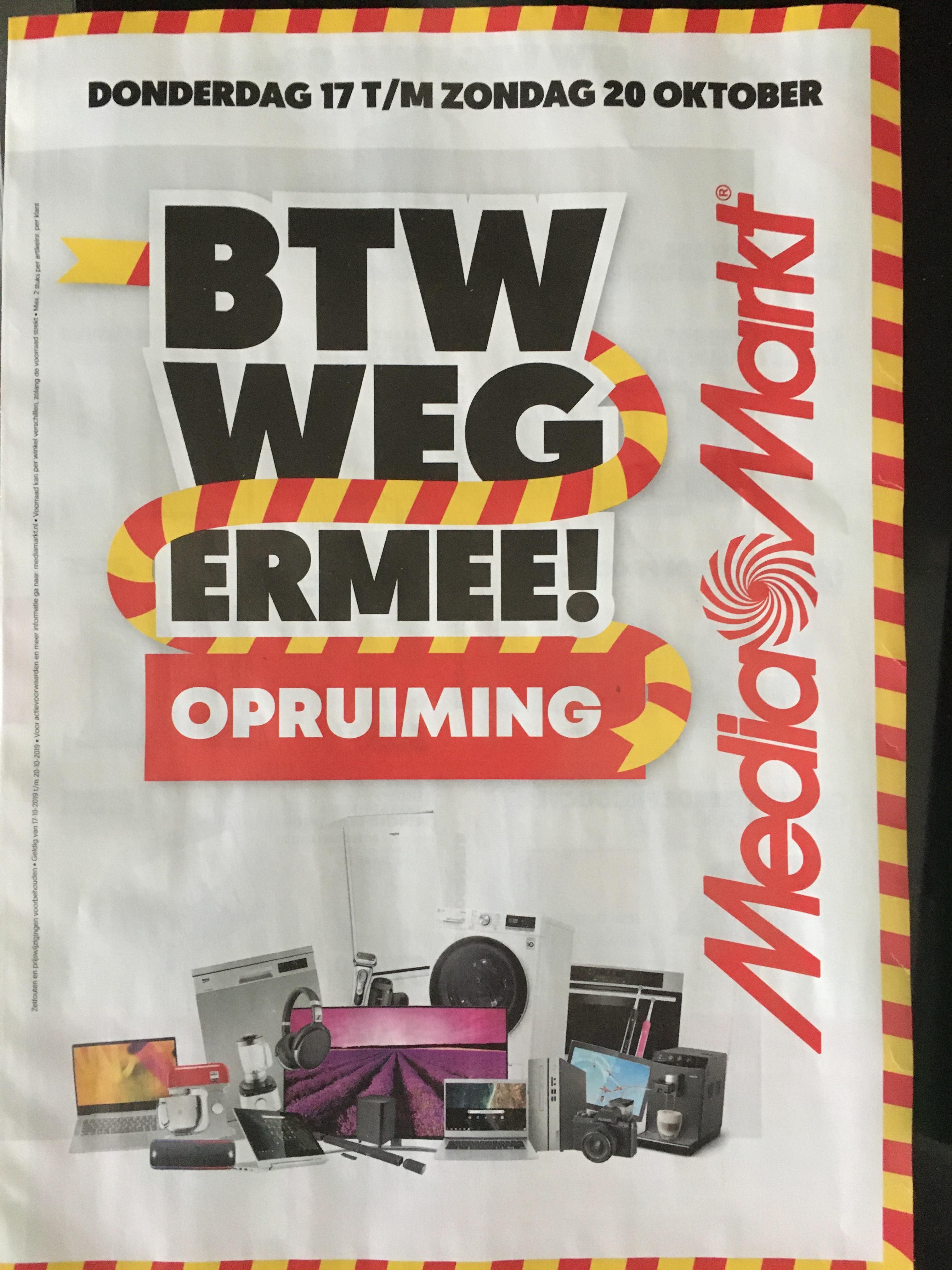BTW Weg Ermee  - MediaMarkt BTW-actie 2019