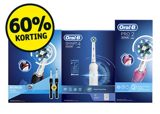 60% korting op 14 Oral-B tandenborstels (vandaag activeren!) voor Kruidvat voordeelkaarthouders