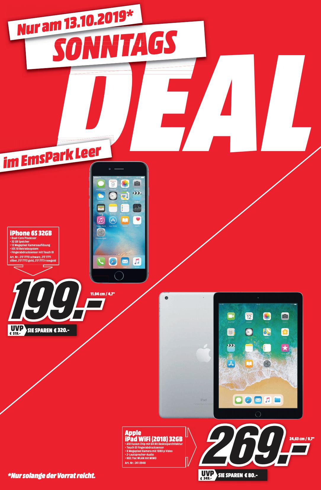 iPhone 6s 32GB @ Mediamarkt Leer DE (Grensdeal)