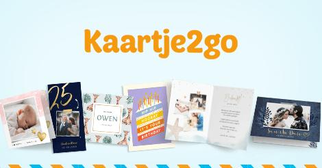 Eerste kaart gratis t.w.v. max. €2,99 exclusief postzegel @ kaartje2go