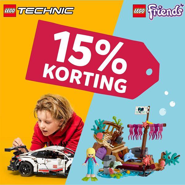 15% korting op LEGO Technic & LEGO Friends @ Intertoys
