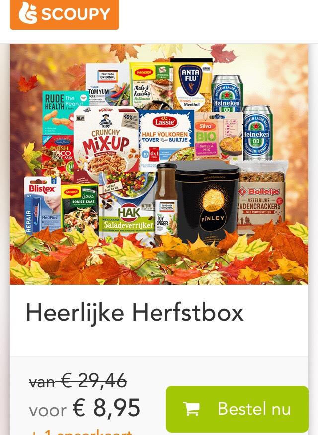 Scoupy - Herfstbox €8,95 bij inlevering van 1 spaarkaart