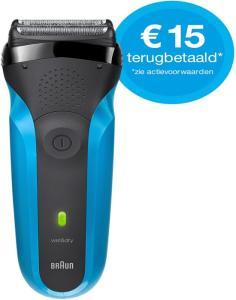 Braun Series 3 310s Wet&Dry scheerapparaat met €15 cashback @Blokker