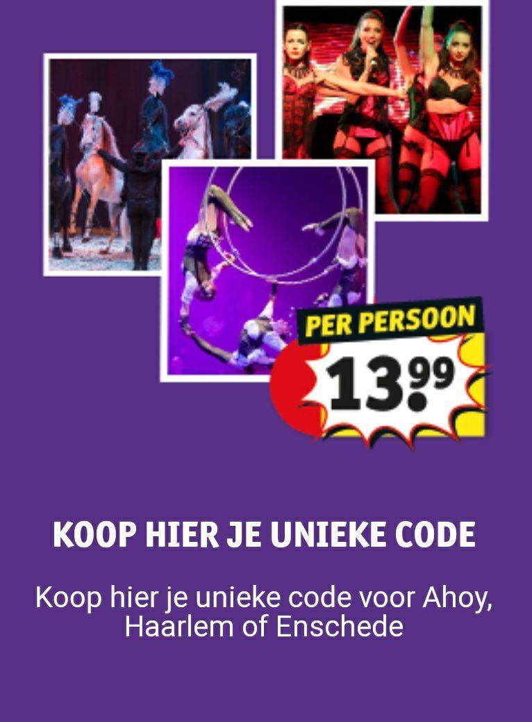 Voor €13,99 naar het kerstcircus in Ahoy, Enschede of Haarlem.
