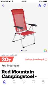 Red mountain camping stoel