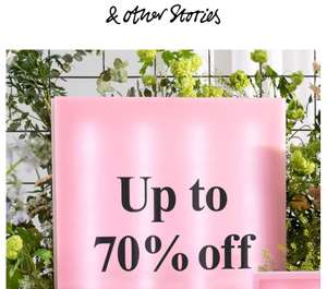 Sale tot -70% @ & other Stories