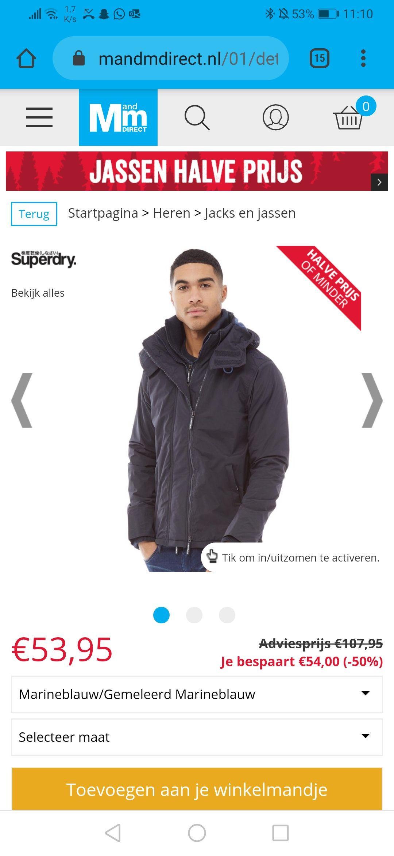 Superdry winter jas (Diverse jassen sterk in prijs verlaagd)