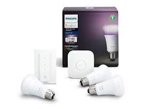 Philips Hue White and Color Ambiance Starter Kit E27 (Amazon.es)