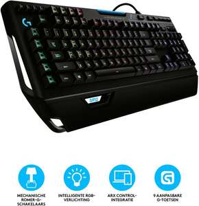 Logitech G910 Orion Spectrum - RGB Mechanisch Gaming Toetsenbord - Azerty @ Bol.com